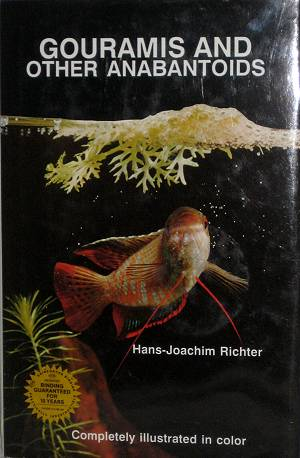 book cover: Gouramis and Other Anabantids by Richter